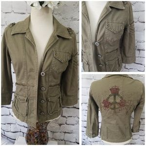 GUESS Military Style Jacket